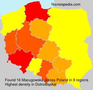 Surname Macugowska in Poland