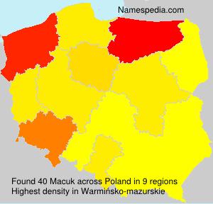 Familiennamen Macuk - Poland
