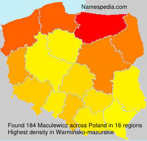 Surname Maculewicz in Poland