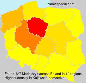 Surname Madajczyk in Poland