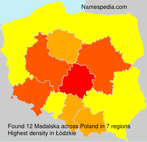 Familiennamen Madalska - Poland