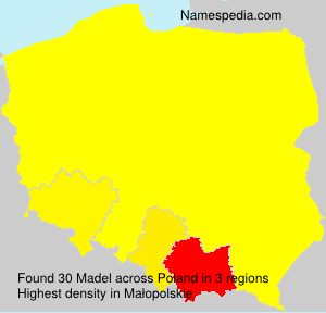 Surname Madel in Poland