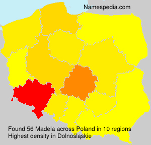 Surname Madela in Poland