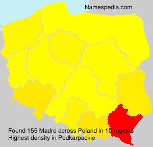 Familiennamen Madro - Poland