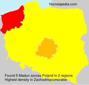 Surname Madun in Poland