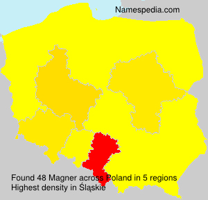 Surname Magner in Poland
