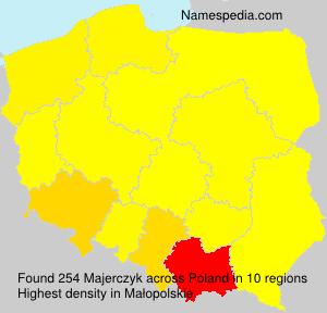 Surname Majerczyk in Poland