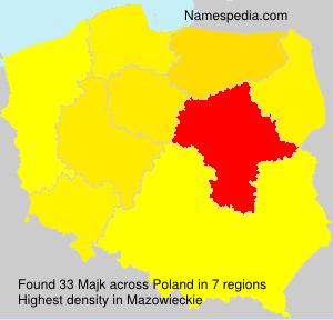 Surname Majk in Poland