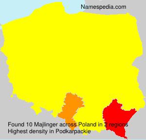 Surname Majlinger in Poland