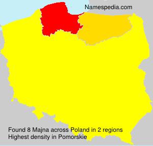 Familiennamen Majna - Poland