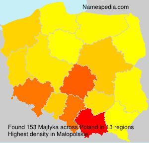 Surname Majtyka in Poland