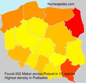Surname Makar in Poland