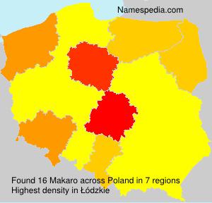 Surname Makaro in Poland