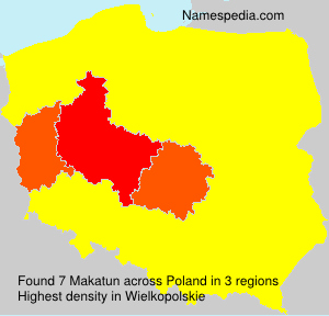 Surname Makatun in Poland