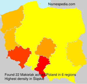 Surname Makielak in Poland