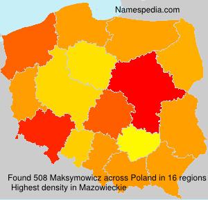Familiennamen Maksymowicz - Poland
