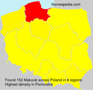 Surname Makurat in Poland