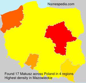 Surname Makusz in Poland