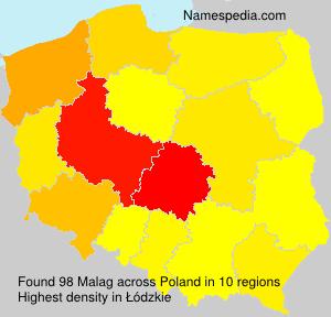 Surname Malag in Poland