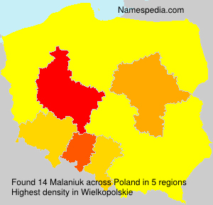 Surname Malaniuk in Poland