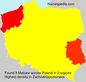 Surname Malcew in Poland