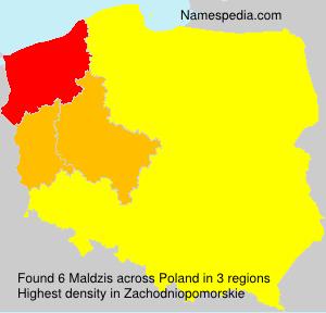 Surname Maldzis in Poland