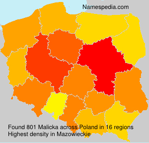 Surname Malicka in Poland