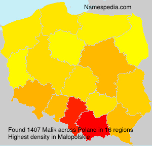 Surname Malik in Poland