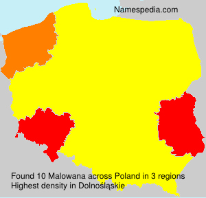 Surname Malowana in Poland