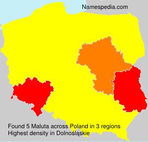Familiennamen Maluta - Poland