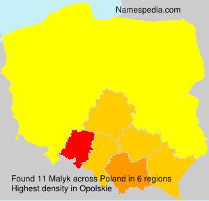 Surname Malyk in Poland
