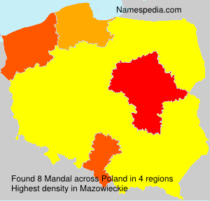 Surname Mandal in Poland