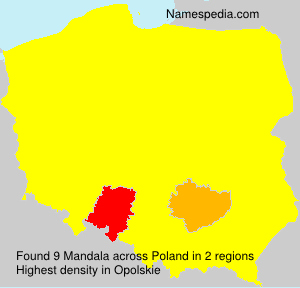 Surname Mandala in Poland