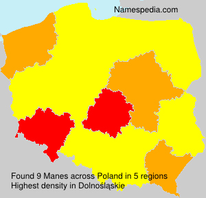 Surname Manes in Poland