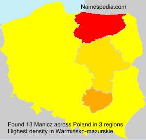 Surname Manicz in Poland