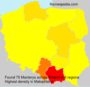 Surname Manterys in Poland