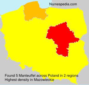 Familiennamen Manteuffel - Poland