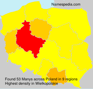 Surname Manys in Poland