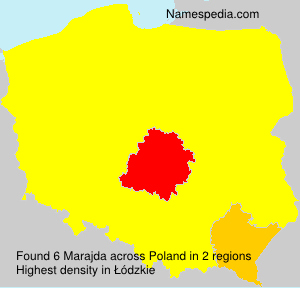 Surname Marajda in Poland