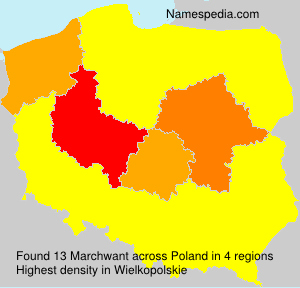 Surname Marchwant in Poland