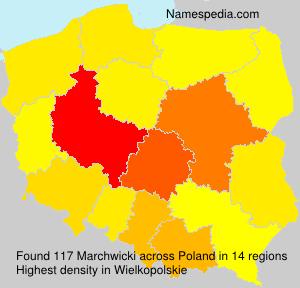 Surname Marchwicki in Poland