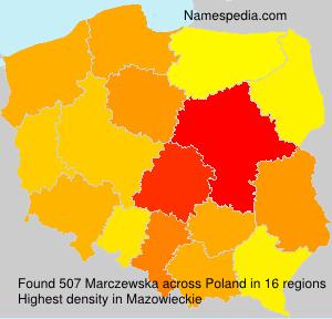 Surname Marczewska in Poland