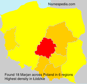 Familiennamen Marjan - Poland