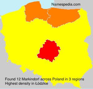 Familiennamen Markindorf - Poland