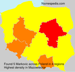 Surname Markovic in Poland