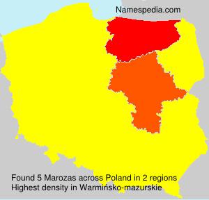 Surname Marozas in Poland