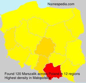 Familiennamen Marszalik - Poland