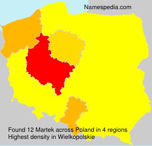 Surname Martek in Poland