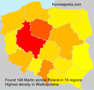 Surname Martin in Poland