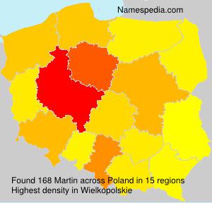 Surname Martin in Poland
